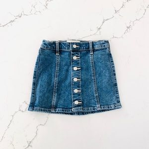 NWT Abercrombie Kids Button Up Denim Skirt